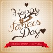 Stock Photo: Fathers day greeting card
