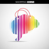 Shopping brain — Stock fotografie