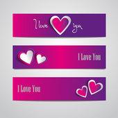 Valentine's day cards — Foto de Stock
