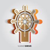 Steering wheel. illustration. — Stock Photo