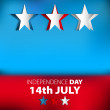 Happy Independence Day star card in vector format — Stock Photo