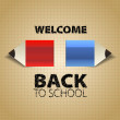 Back to School, with paper pencils, Vector eps10,  background — Stok fotoğraf