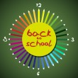 Back to school theme - pencils as clock — Stock Photo