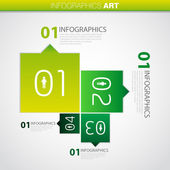 One two three four - vector infographics progress steps for tutorial, web — Stock Photo