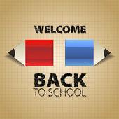 Torna a scuola, con matite di carta — Foto Stock