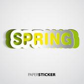 Carta segno di primavera-primavera — Foto Stock