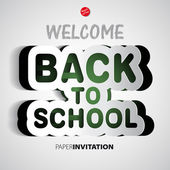 Welcome Back to school background — Stock Vector