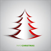 Paper Christmas tree — Vettoriale Stock