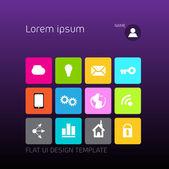 Design template profile for social media — Stock Vector