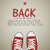 Creative concept with Back to school theme — Stock Vector