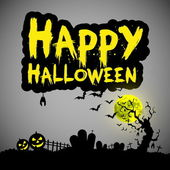 Happy Halloween message — Stock Vector