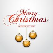 Christmas Greeting Card - Merry Christmas — Stock Vector