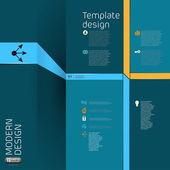 Modern business infographics banner — Stockvektor