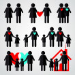 Family icon set — Stock Vector #31380227