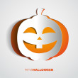 Stock Vector: Halloween Paper Pumpkin - Scary Jack