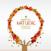 Sfondo autunno con foglie e copia spazio — Vettoriale Stock