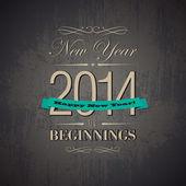 Happy new year 2014 card — Stock Vector