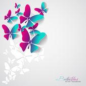 Kartkę z życzeniami z papieru motyle — Wektor stockowy