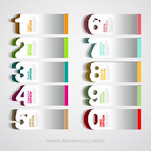 Infographics paper number options template — Stock Vector