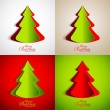 Colorful Christmas Tree Set — Stock Vector