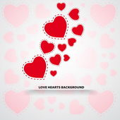 Love background with hearts — Vector de stock