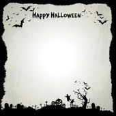 Happy Halloween sign and theme design background — Stock Vector