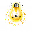 Ligth Bulb with moth — Stock Vector #34260369