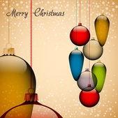 Ретро рождественская открытка — Cтоковый вектор
