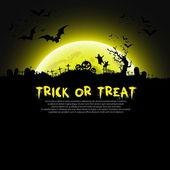 Trick or Treat Halloween sign — Stock Vector