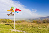 Signpost indicating directions on Braunsberg — Stock Photo