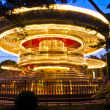 Merry-go-round carousel at night — Stock Photo #35237943