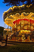 Merry-go-round carousel at night — Stock Photo