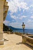 Balcony on the sea in Miramare castle — Stockfoto