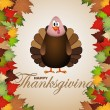 Happy Thanksgiving cartoon turkey  — Image vectorielle