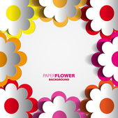 Paper flowers cutout — Wektor stockowy