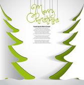 Buon natale carta albero disegno d'auguri — Vettoriale Stock