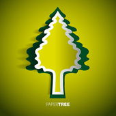Paper tree — Stock Vector