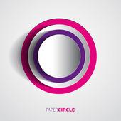 Abstract paper circles — Stock Vector