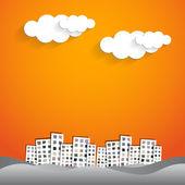 Urban city graphic design — Stock Vector