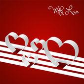Valentines stripes of love — Wektor stockowy