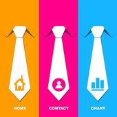 Komunikacja z szyi krawat - idea zarządzania — Wektor stockowy