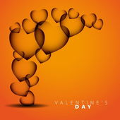 Happy Valentines Day - Hearts on background - vector illustration — 图库矢量图片