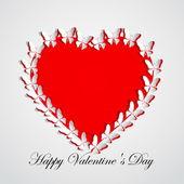Valentine's Heart of butterflies — 图库矢量图片