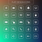 Flat design - icons pack. Simple line icons. Thin Icons Set — Stock Vector