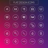 Design piatto - pack di icone. — Vettoriale Stock