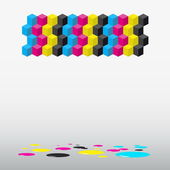 Cubes background — Stock Vector