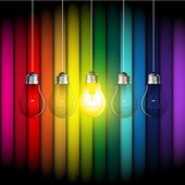 Color light bulbs — Stok Vektör