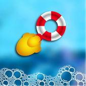 Soap bubble bath — Stock Vector