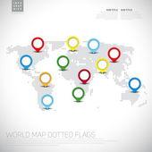 Infographics World map — Stock vektor