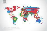 Mapa mundial de infografía — Vector de stock